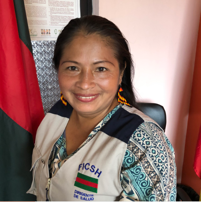 Raquel Tandu is the top Shuar health official. Protecting forests and stopping mining is considered a health issue by the Shuar.